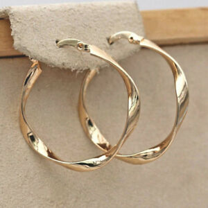 Elegant Gold Silver Dangle Hoop Earrings for Women Engagement Jewelry A Pair/set