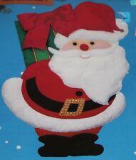 Santa Claus Clause Felt Wall Hanging Titan Needlecraft kit vintage Christmas