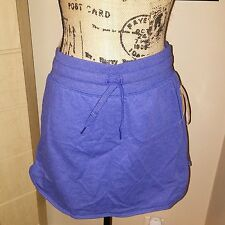 Womens SM Everlast French Terry Purple Skort Innner Shorts Drawstring Stretch