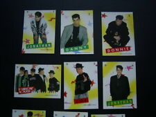 TOPPS 1989 ~ NEW KIDS ON THE BLOCK CARD-STICKERS  SET OF 11 variants (e19)
