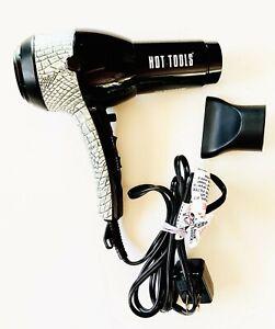 Hot Tools 1875-watt Tourmaline Ionic Black and White Hair Dryer - NEW