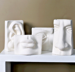 Minimalist Human Face Abstract Vase - Mouth, Eyes, Nose and Ears Room Decor Pot