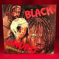 BLACK UHURU Sinsemilla 1980 UK  Vinyl LP EXCELLENT CONDIT Sly & Robbie original