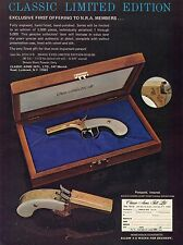 1977 Print Ad of Classic Arms Snake Eyes .36 cal NRA Black Powder Pistol