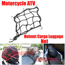1X Motorcycle ATV Helmet Cargo Luggage Mesh Bungee Web Net Sticker Random color
