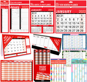 2022 Wall Calendar Large Month to View Planner, Easy View Slim Calendar Office