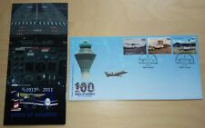 2011 Malaysia 100 Years of Aviation, Airplane 3v Stamp FDC (Kuala Lumpur Cachet)