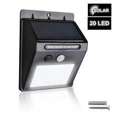 Luz De Pared Lámpara de jardín 20 LED Energía Solar Sensor De Movimiento