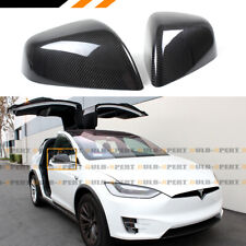 For 2016-2020 Tesla Model X Add-On Full Carbon Fiber Side View Mirror Covers Cap
