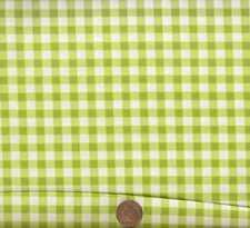 Picnic lime green white checks Michael Miller  fabric