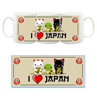 I love Japan Daruma Gattini Giappone Jappone Tazza Ceramica Mug Cup Manga Anime