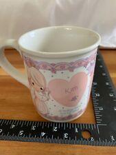 Vintage 1994 Enesco Precious Moments Name Kim Tea Mug Cup