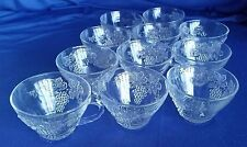 Anchor Hocking GRAPE Cluster LEAVES Punch Cups Glasses Leaf Bottom Replacements