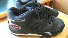 Easton Mens Launch Mid Baseball & Softball Cleats Shoes 7 Black Silver Nice