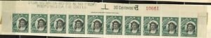 Chile #76 Plate # Strip of 10 1905-09 Mint No Gum