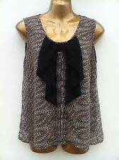 ATMOSPHERE Sheer Leopard Black Bow Top Size 12 WORN ONCE