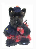 Scottish Plush SCOTTISH TERRIER TARTAN PIPER - 12'' Stuffed Animal - Soft Dog