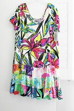 Jams World Womens Day Lily Hattie Short Sleeve Rayon Dress W329 Sz L-