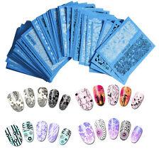 Carte trasferibili adesive ad acqua per decorazione unghie nail art 48 fogli