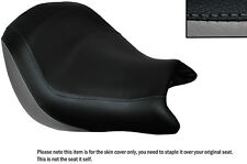 GREY & BLACK CUSTOM FITS HONDA VTX 1800 02-04 FRONT LEATHER SEAT COVER