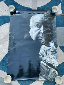 Vintage Apple Think Different Poster Alfred Hitchcock 1997 Macintosh Rare 90s