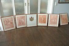 Johann Elias Riedinger Pferdedressur 5 Lithografien Auflage Thurn und Taxis