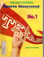1973 (9/10) Sports Illustrated, College Football magazine, Texas Longhorns No. 1