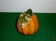 """Lovely """"Pumpkin"""" Ceramic 2-Hole Pepper Shaker - EUC"""