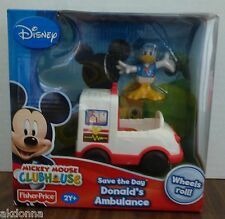 Disney Mickey Mouse Clubhouse Save the Day Donald's Ambulance - Fisher Price