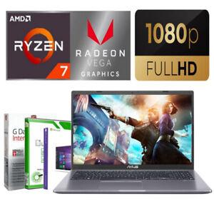 "15.6"" Full HD GAMING ASUS Laptop AMD Ryzen 7 3700U 8GB DDR4 SSD Win 10 Notebook"