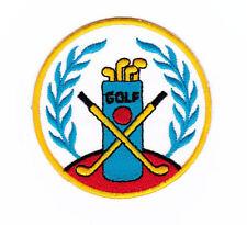 Ak25 golf logotipo insignia bate pelota bolso Patch perchas imagen aufbügler Patch