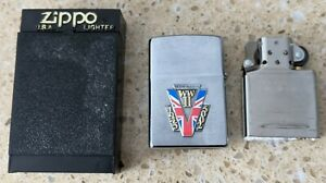 Original Zippo Chrome Lighter -Customised for a Victory in Europe WW2 WWII theme