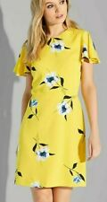 Warehouse NWT UK size 18 yellow floral buttercup print shift tea dress