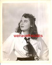 Vintage Marta Toren GORGEOUS BEAUTY '49 Publicity Portrait TRAGIC STAR