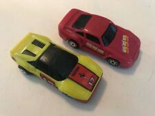 Lot of 2 Matchbox Burnin Key Cars Yellow Ferrari #17 /Red Porsche NICE!!! No Key