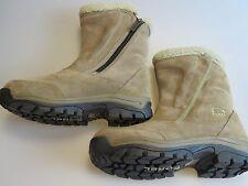 SOREL Waterfall NL-1964 Brown Tan Beige Leather Zip Up Winter Boots Women's US 8