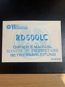 Yamaha RD 500 LC Owners Manual