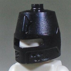 new LEGO black Castle Knight Helmet with eye slit