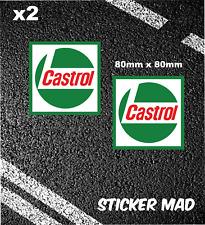 2 Pegatinas de carreras aceites Castrol Clásico Motocicleta Coche F1 Le Mans moto GP BTCC GT