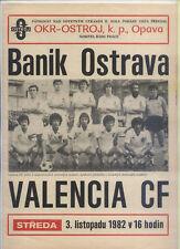 EC III 82/83 Banik Ostrava - Valencia CF