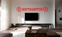 SOUTHAMPTON Football FC Bedroom Poster Wall Art Sticker, Decal, Car Vinyl, Glass