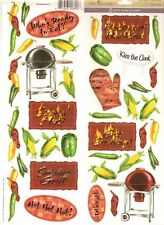 BARBEQUE Cookout Grilling Scrapbook Stickers