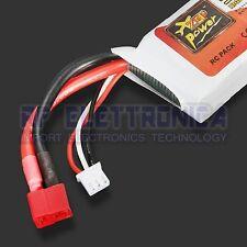 ZOP Power 7.4V 2200mAh 2S 35C Lipo Battery T Plug