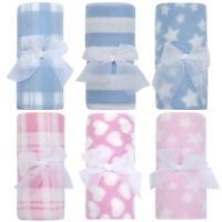 Newborn Baby Boys Girls Fleece Comforter Blanket Bedding Cot Crib 3 Pack Gift UK