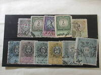 1888 Hungary 11 Revenue Stamps