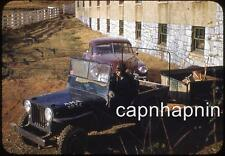 Willys JEEP Augusta Military Academy ROTC Fort Defiance VA Vtg 1950s Slide Photo