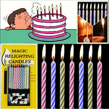 10Pcs/set Magic Trick Relighting Candle Birthday Cake Party Gift Funny gj9