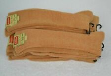 Vtg 1970's Lot of 6prs Men's Orlon Acrylic Socks, Gold Heather 10-13, Healthknit