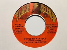 "Carlton Livingston ""Wrote Me A Letter� and ""Version� Flash Records Reggae Import"