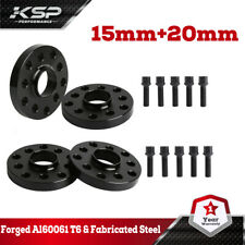 4x for Audi VolksWagen Staggered 15 MM & 20 MM Wheel Spacers 5x100 5x112 57.1 mm